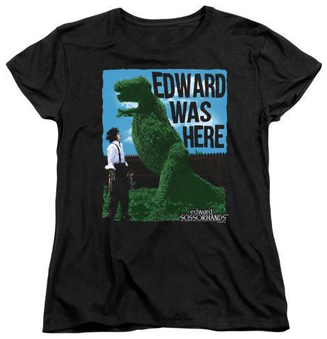 Womens: Edward Scissorhands - Edward Was Here Womens T-Shirts