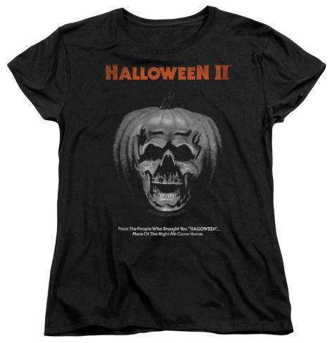 Womens: Halloween II - Pumpkin Poster Womens T-Shirts