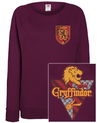 Womens: Harry Potter - House Gryffindor Sudadera de cuello redondo