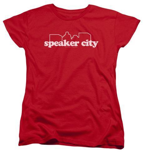Womens: Old School - Speaker City Logo Womens T-Shirts