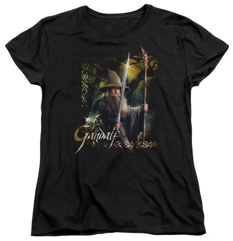 Womens: The Hobbit - Sword And Staff Womens T-Shirts