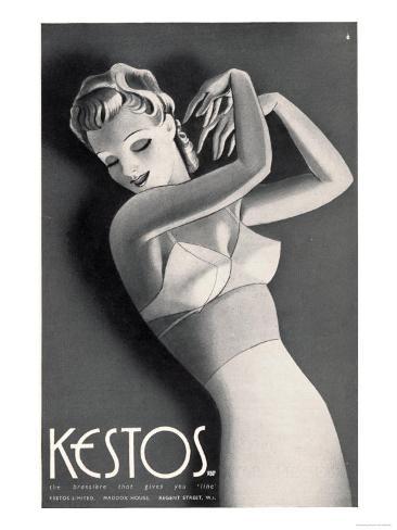 Womens Underwear Kestos Corsets Girdles Bras, UK, 1930 Giclee Print