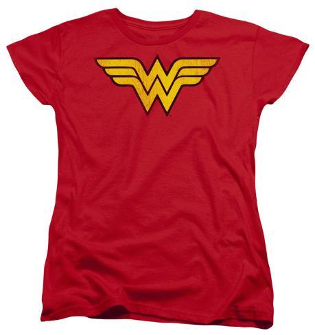 Womens: Wonder Woman - Wonder Woman Logo Dist Womens T-Shirts