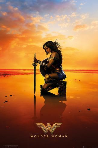 Wonder Woman - Kneel Póster