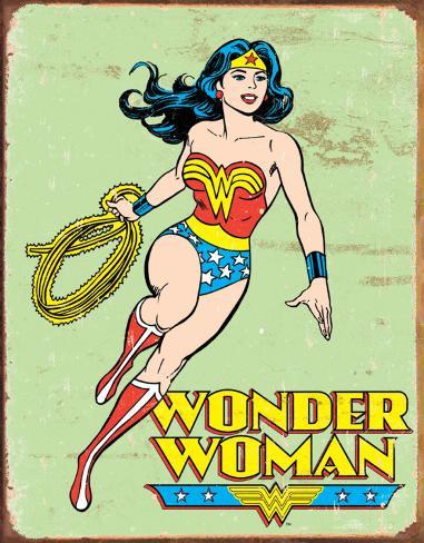 Wonder Woman Retro Targa di latta