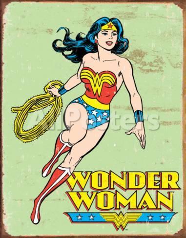 Wonder Woman Retro Tin Sign At Allposters Com