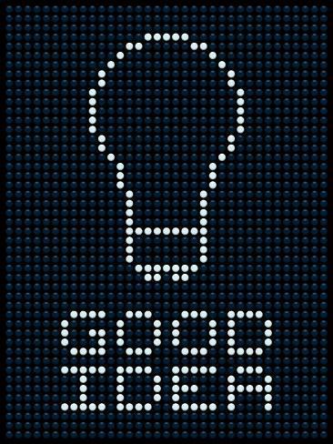 good idea led board posters por wongstock na allposters com br