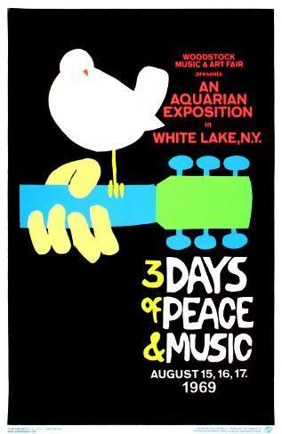 Woodstock Blacklight Poster