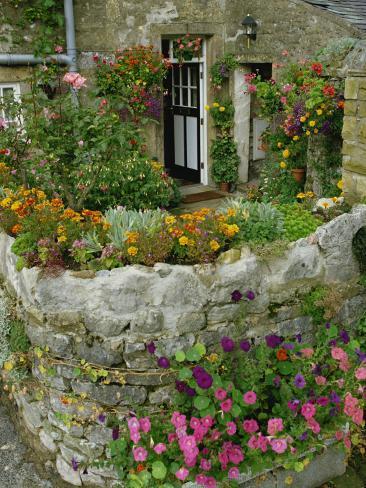 Detail of Cottage and Garden, Yorkshire, England, United Kingdom, Europe Valokuvavedos