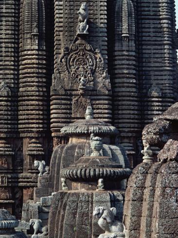 Lingaraja Temple, Bhubaneswar, Orissa State, India Photographic Print