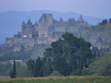 Walls and Turrets of the Old Town of Carcassonne, Languedoc Roussillon, France Photographic Print