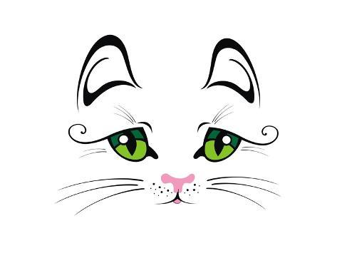 Cat with Green Eyes Art Print