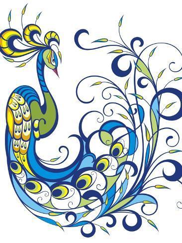 Peacock Premium Giclee Print