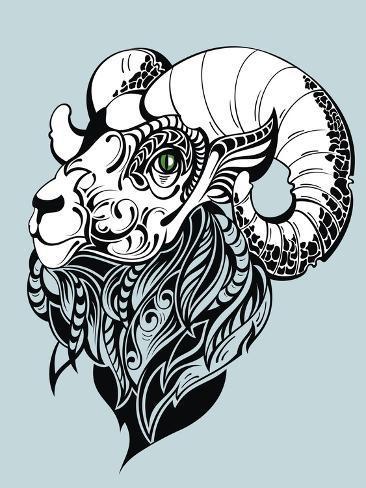 Vector Goat Art Print