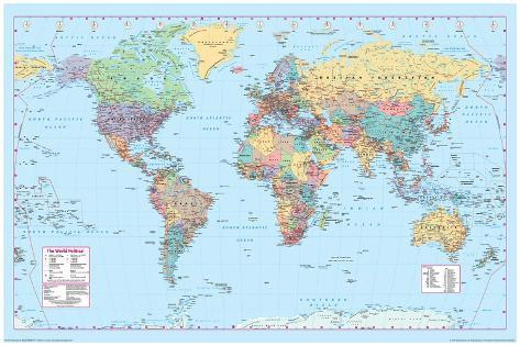 World Map 2 Pôster