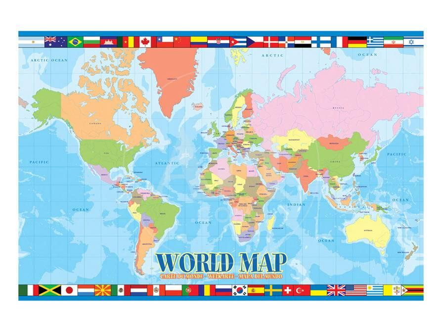 World Map For Kids Print At Allposters Com