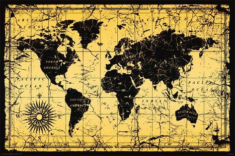 World Map Old Style Posters Allposters Co Uk