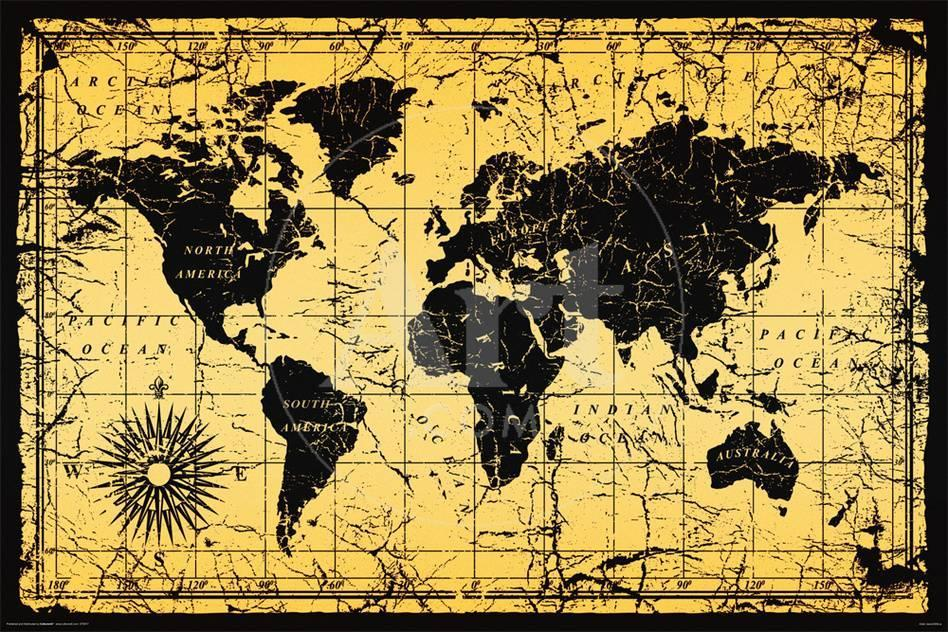 World map old style lminas en allposters gumiabroncs Images