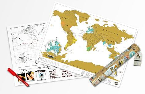 World Map - Scratch Map - Travel Edition Poster Set Póster