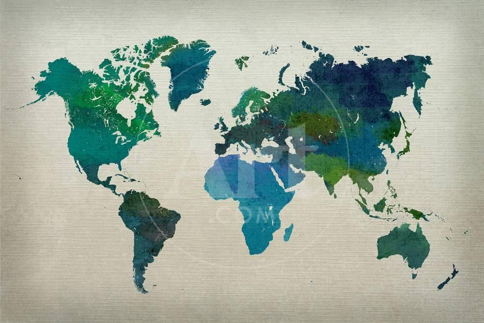 World Map Watercolor Cool Prints At Allposters Com