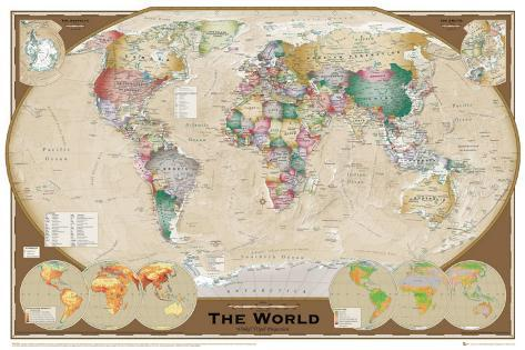 World map posters at allposters world map gumiabroncs Choice Image
