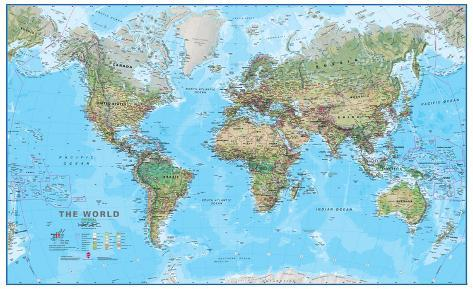 World physical 130 wall map educational poster posters world physical 130 wall map educational poster gumiabroncs Image collections