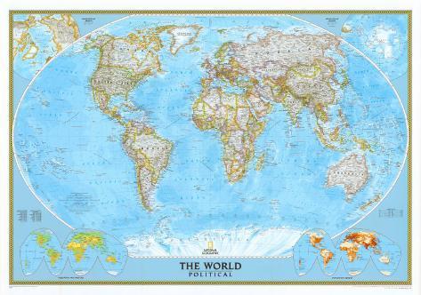 World Political Map Poster