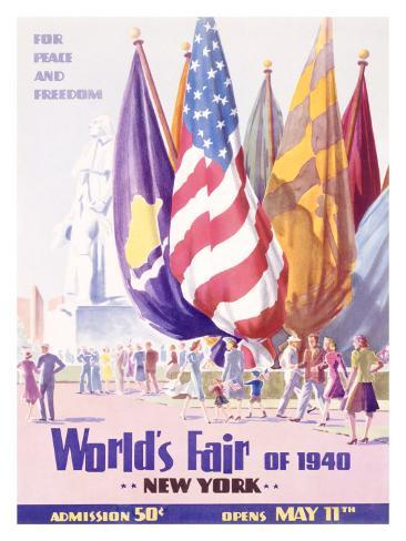 World's Fair, New York, c.1940 Giclee Print