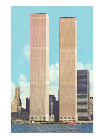 World Trade Center Towers, New York City Art Print