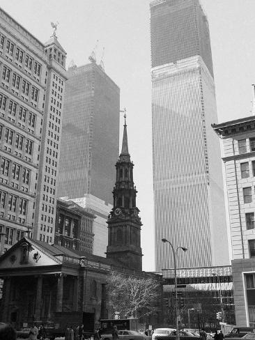 World Trade Center Twin Towers Construction, New York City, New York, c.1971 Photographic Print