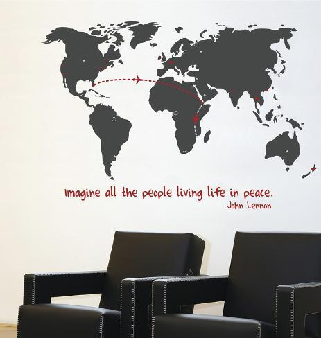World Traveller Transfer Wall Decal Wall Decal