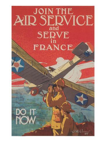 World War I Raf Recruitment Poster Stampa artistica