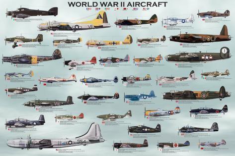 WW2 WWII WORLD WAR 2 WALL ART CANVAS PRINT POSTER PHOTO PICTURE AIRCRAFT DECOR .
