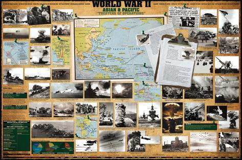 World War II - Asian and Pacific Theaters of Operations Stretched Canvas Print