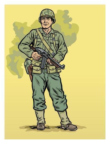 World War II Soldier Art Print