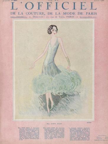 L'Officiel, July 1926 - Miss Dora Duby Stampa artistica