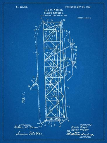 Wright brothers flying machine patent arte na allposters wright brothers flying machine patent impresso artstica ccuart Images