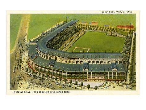Wrigley Field, Home Grounds of Chicago Cubs Art Print