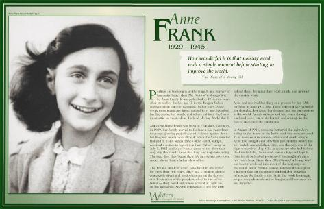 Writers Who Changed the World - Anne Frank Art Print
