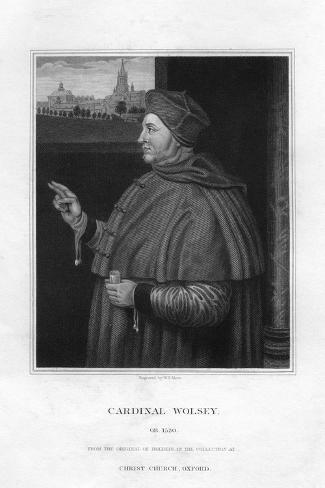 Cardinal Thomas Wolsey (C1475-153), 1832 Lámina giclée
