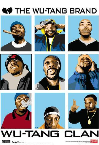 Wu Tang Clan Animated Music Poster Poster