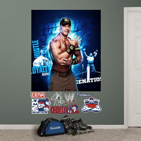 WWE John Cena Montage Mural Wall Decal Wall Decal AllPosterscouk