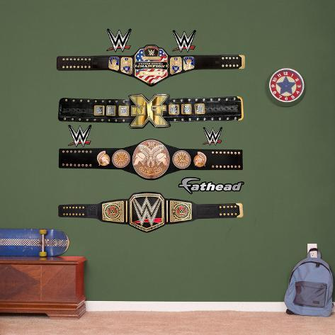 Awesome WWE Title Belts Collection Wall Decal Part 26
