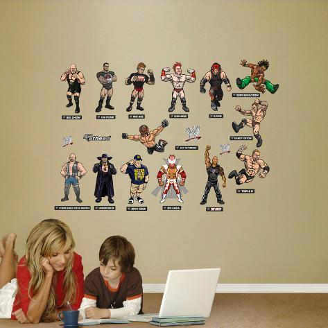Charming WWE Wrestling Kids Collection Wall Decal Sticker