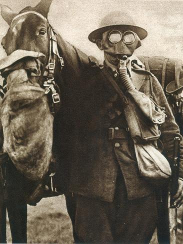 WWI: Gas Warfare Stretched Canvas Print