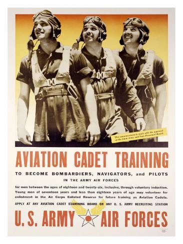 WWII, Aviation Cadet Training Giclee Print