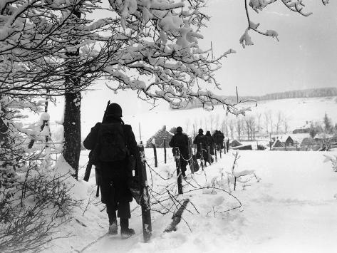 WWII Battle of the Bulge Photographic Print