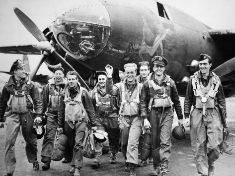 WWII Europe England U.S. Air Force Crews Photographic Print