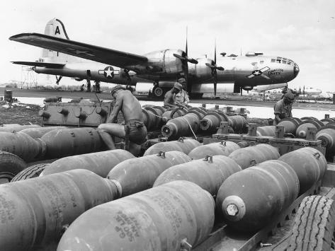 WWII Loading U.S. Bombers Photographic Print