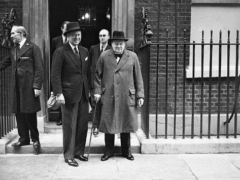 WWII London Churchill and Kennedy Photographic Print